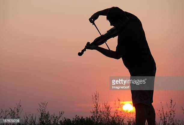 Violinist in Outdoor Concert
