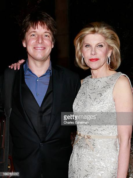 Violinist Joshua Bell and actress Christine Baranski attend 2013 Education Through Music Benefit Gala at Cipriani 42nd Street on April 10 2013 in New...