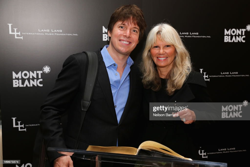 Violinist Joshua Bell and Montblanc Director PR International and Cultural Affairs, Ingrid Roosen-Trinks attend The Lang Lang International Music Foundation Inaugural Gala supported by Montblanc at 10 on The Park on June 3, 2013 in New York City.