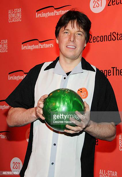 Violinist Joshua Bell attends the 28th Annual Second Stage Theatre AllStar Bowling Classic at Lucky Strike Lanes Lounge on February 2 2015 in New...