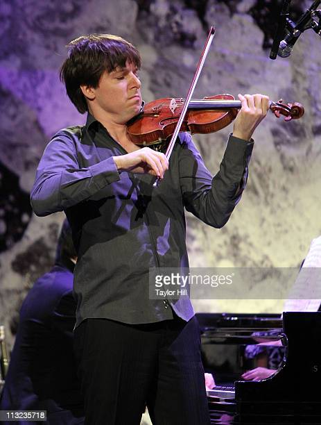 Violinist Joshua Bell performs during the 2011 Downtown Dinner at Cipriani Wall Street on April 27 2011 in New York City