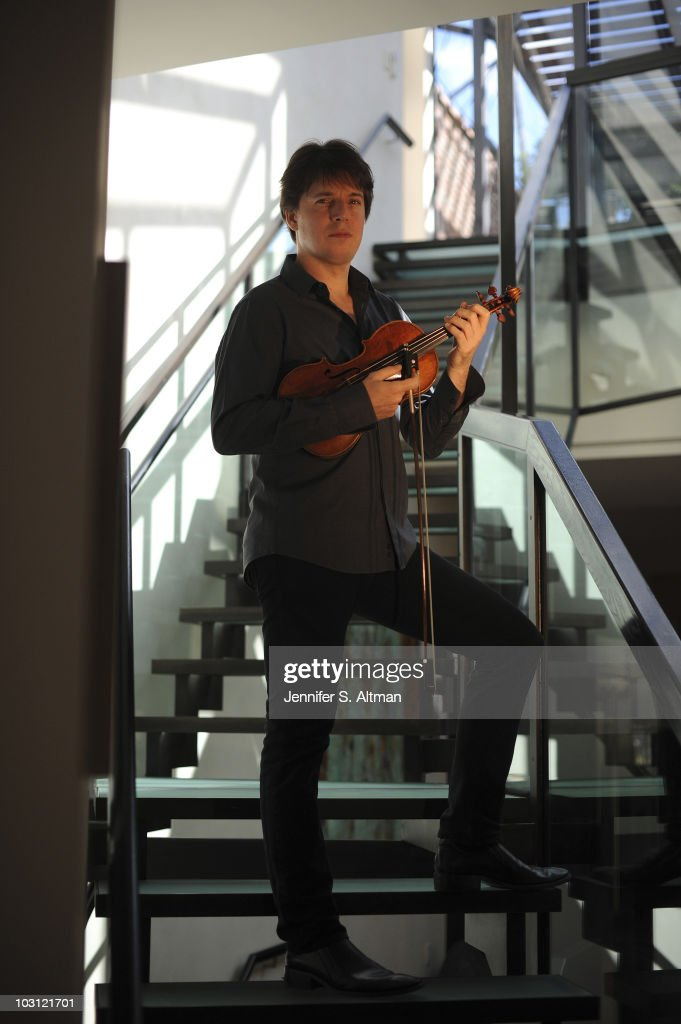 Violinist <a gi-track='captionPersonalityLinkClicked' href=/galleries/search?phrase=Joshua+Bell+-+Musician&family=editorial&specificpeople=556072 ng-click='$event.stopPropagation()'>Joshua Bell</a> poses at a portrait session for The Los Angeles Times in New York, NY on July 10, 2010.