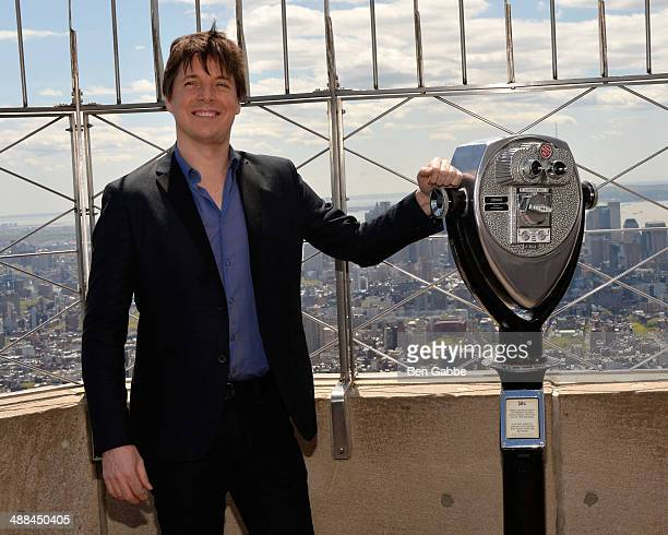 Violinist Joshua Bell visits at The Empire State Building on May 6 2014 in New York City
