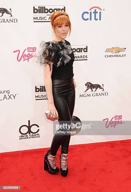 Violinist Lindsey Stirling arrives at the 2014 Billboard Music Awards at the MGM Grand Garden Arena on May 18 2014 in Las Vegas Nevada
