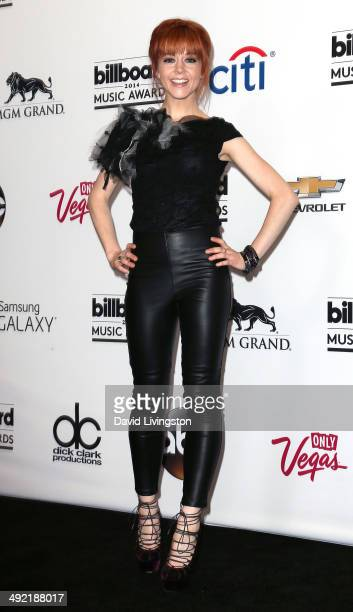 Violinist Lindsey Stirling attends the 2014 Billboard Music Awards press room at the MGM Grand Garden Arena on May 18 2014 in Las Vegas Nevada