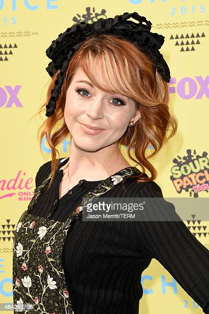 Violinist Lindsey Stirling attends the Teen Choice Awards 2015 at the USC Galen Center on August 16 2015 in Los Angeles California