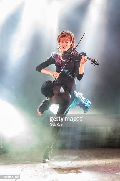 Violinist Lindsey Stirling performs in concert at Stubb's BarBQ on July 11 2014 in Austin Texas
