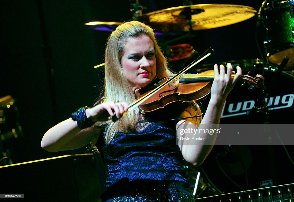 Violinist Lizzie Ball performs at The Pearl concert theater at the Palms Casino Resort on October 18, 2013 in Las Vegas, Nevada.