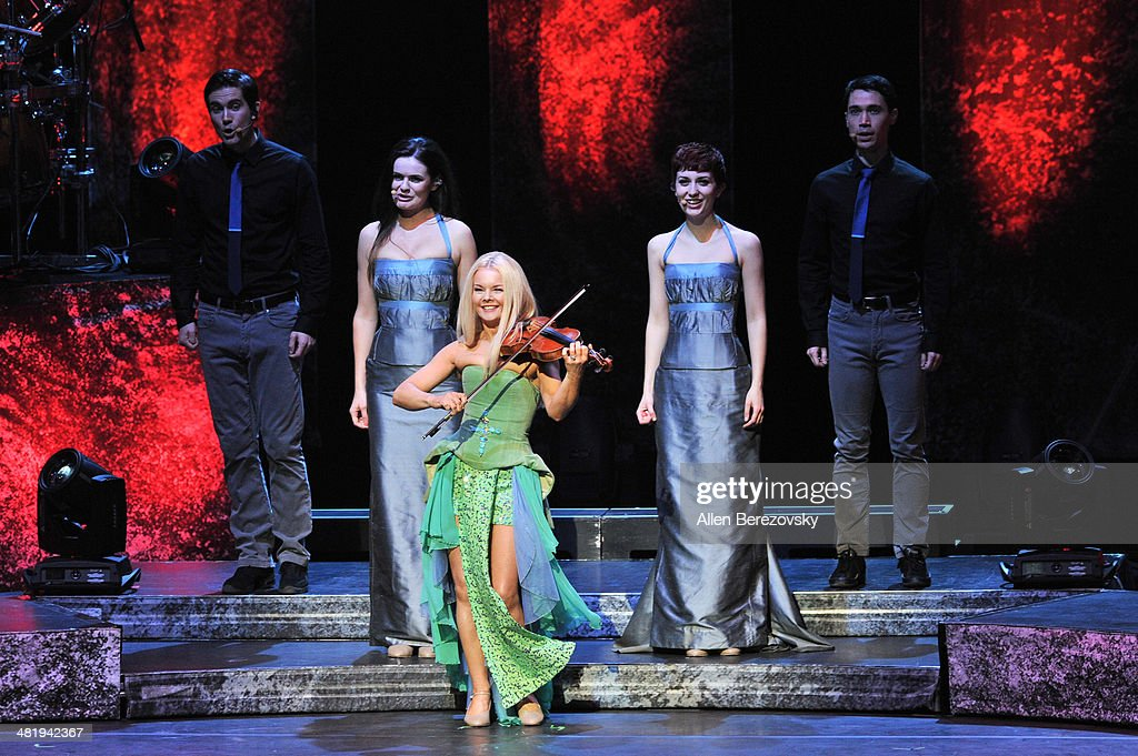 Violinist Mairead Nesbitt of Celtic Woman performs during 'The Emerald Tour' concert at Segerstrom Center For The Arts on April 1, 2014 in Costa Mesa, California.
