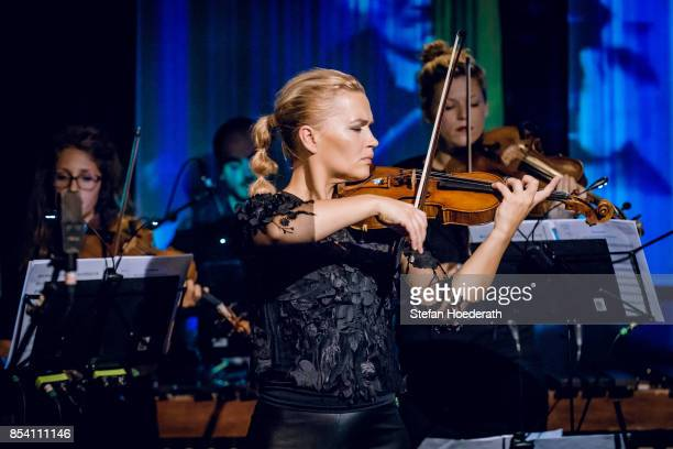 Violinist Mari Samuelsen performs live on stage during Yellow Lounge x Reeperbahn Festival organized by recording label Deutsche Grammophon at...