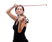 Violinist Playing Her Violin