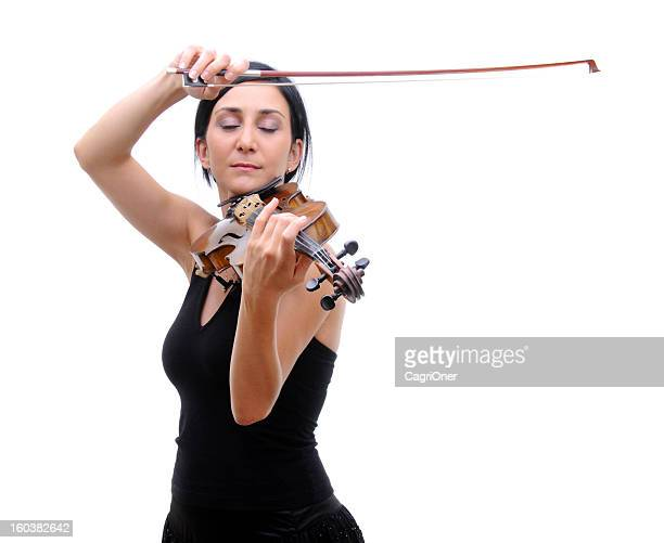 O Violinista a tocar violino