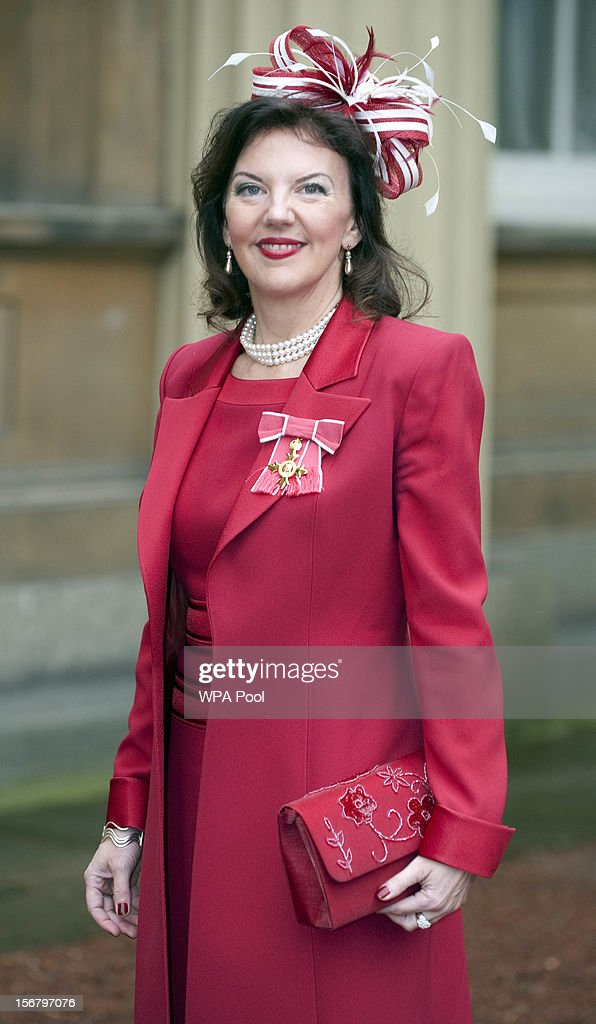 Violinist Tasmin Little poses after being awarded an OBE at Buckingham Palace for services to Music on November 21, 2012 in London, England.