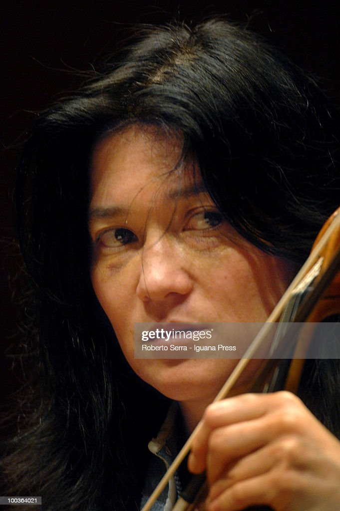 Violist Lyda Chen, son of pianist Martha Argerich, play with her's mother the concert for Bologna Festival at Manzoni theatre on May 20, 2010 in Bologna, Italy.