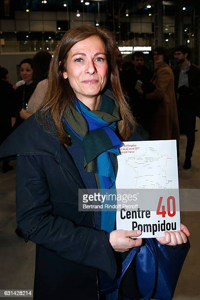 Violonist Anne Gravoin attends the celebration of the 40th Anniversary of the Centre Pompidou on January 10 2017 in Paris France