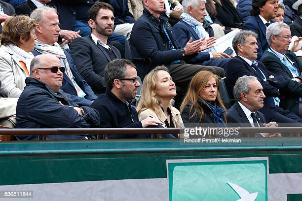 Violonist Anne Gravoin President of French Tennis Federation Jean Gachassin and Presidential candidates of the French Tennis Federation Vice...