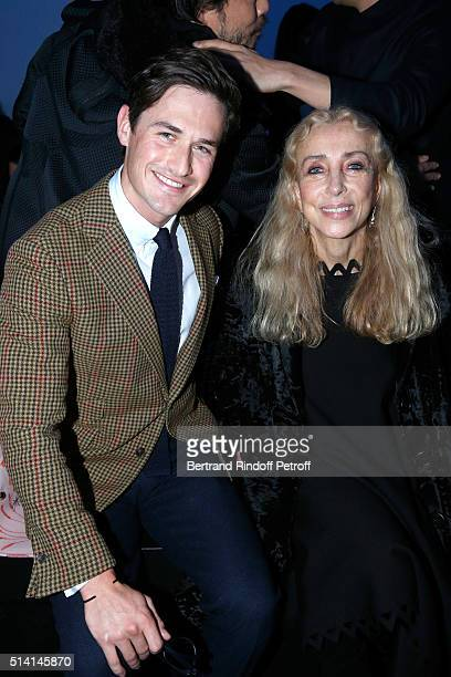 Violonist Charlie Siem and Franca Sozzani attend the Giambattista Valli show as part of the Paris Fashion Week Womenswear Fall/Winter 2016/2017 on...