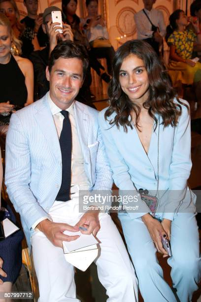 Violonist Charlie Siem and Shlomit Malka attend the Giorgio Armani Prive Haute Couture Fall/Winter 20172018 show as part of Haute Couture Paris...