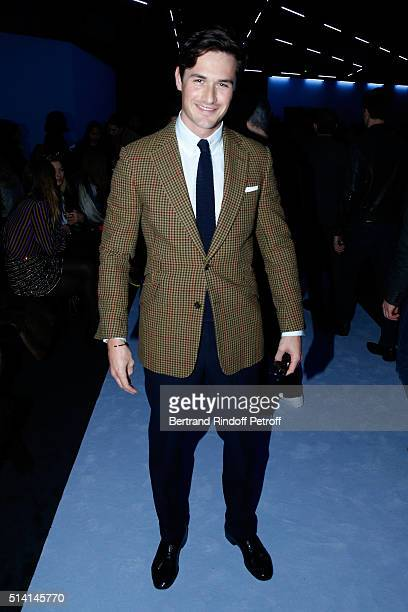 Violonist Charlie Siem attends the Giambattista Valli show as part of the Paris Fashion Week Womenswear Fall/Winter 2016/2017 on March 7 2016 in...