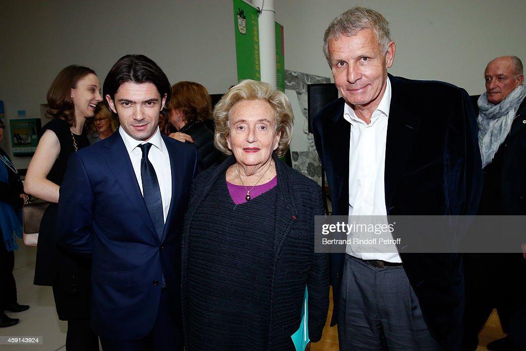 Violonist Gaultier Capucon President od Association of Paris' Hospitals Bernadette Chirac and Patrick Poivre d'Arvor attend the 'Maison de Solenn'...