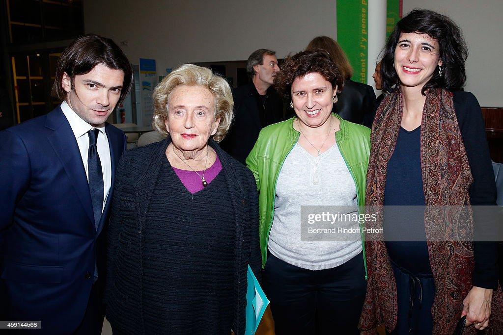Violonist Gaultier Capucon President of Association of Paris' Hospitals Bernadette Chirac Director of the 'Maison de Solenn' MarieRose Moro and...