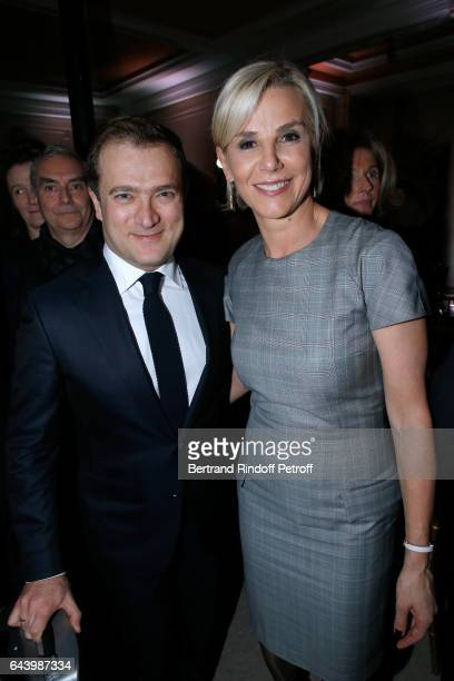Violonist Renaud Capucon and his wife Laurence Ferrari attend the celebration of the 10th Anniversary of the 'Fondation Prince Albert II De Monaco'...