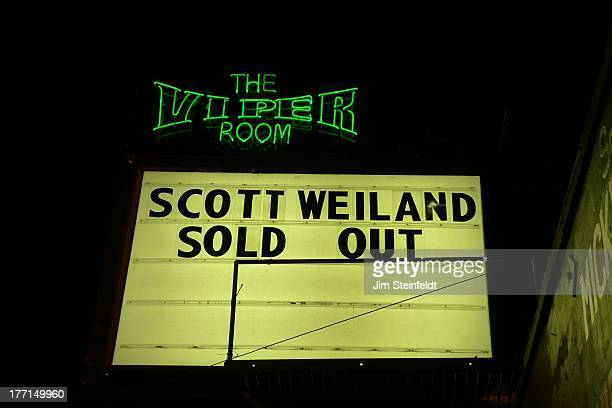 Viper Room marquee for Scott Weiland during the Sunset Strip Music Festival in Los Angeles California on August 3 2013
