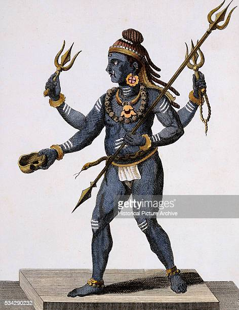 Viraharab the Destructive and Aggressive Aspect of Shiva from Voyages Aux Indes et la Chine