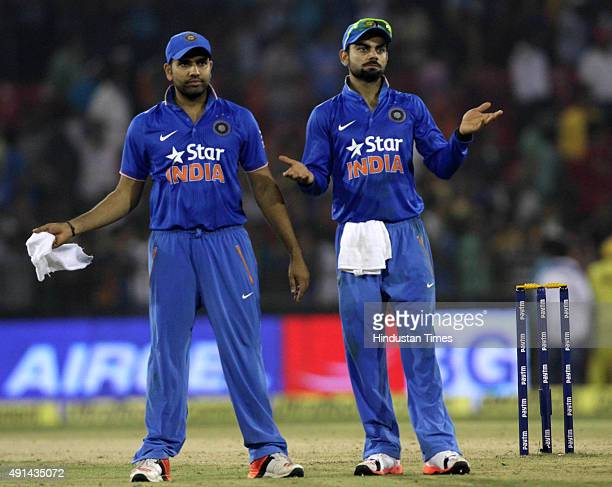 Virat Kohli and Rohit Sharma appealing to the crowd for the normalcy against South Africa in the ground as the low scores of Indian side make the...