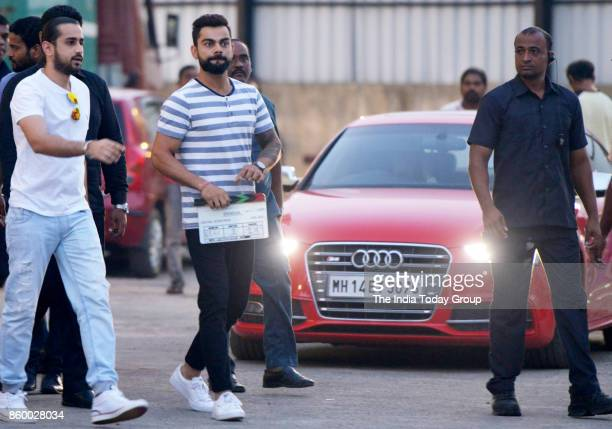 Virat Kohli during reality show shoot at P3 studio Mudh Malad Mumbai