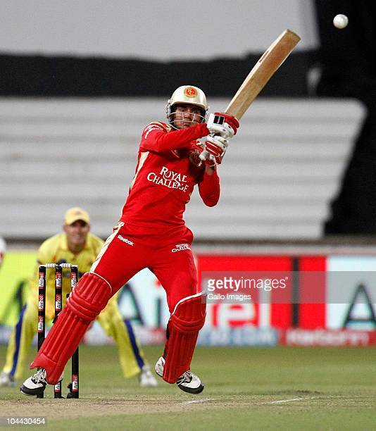 AFRICA SEPTEMBER 24 Virat Kohli during the Airtel Champions League Twenty20 semifinal match between Chennai Super Kings and Royal Challengers...