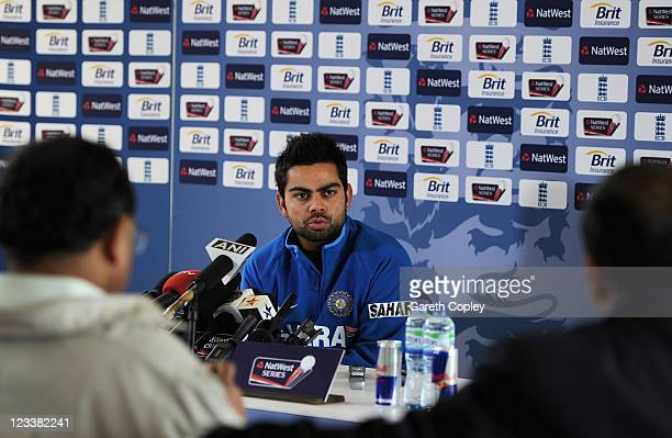 Virat Kohli of India attends a press conference at The Riverside on September 2 2011 in ChesterleStreet England