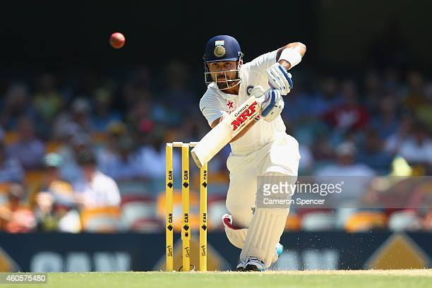 Virat Kohli of India bats during day one of the 2nd Test match between Australia and India at The Gabba on December 17 2014 in Brisbane Australia