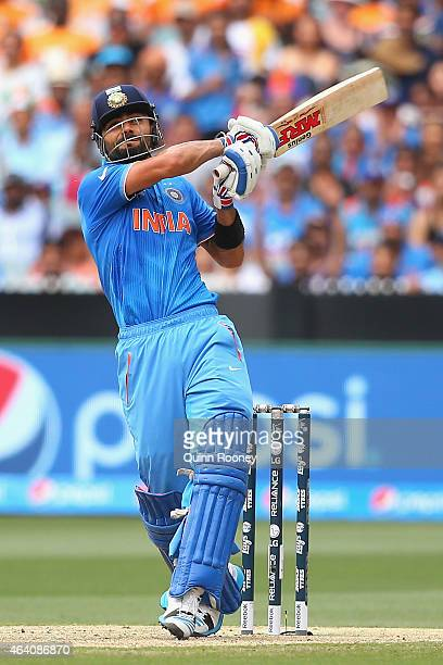 Virat Kohli of India bats during the 2015 ICC Cricket World Cup match between South Africa and India at Melbourne Cricket Ground on February 22 2015...
