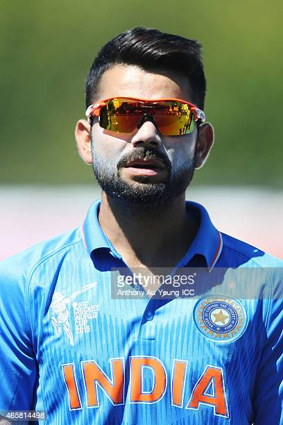 Virat Kohli of India during the 2015 ICC Cricket World Cup match between Ireland and India at Seddon Park on March 10 2015 in Hamilton New Zealand