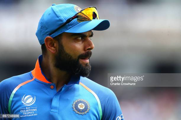Virat Kohli of India during the ICC Champions Trophy Final match between India and Pakistan at The Kia Oval on June 18 2017 in London England