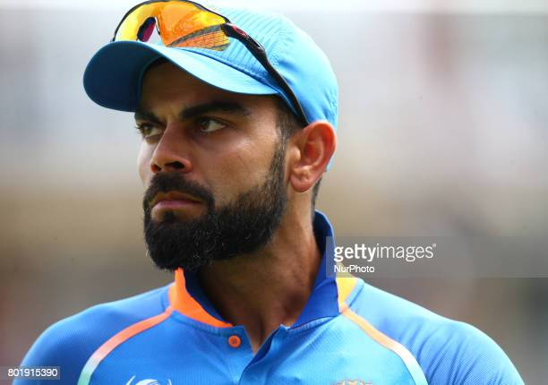 Virat Kohli of India during the ICC Champions Trophy Final match between India and Pakistan at The Oval in London on June 18 2017