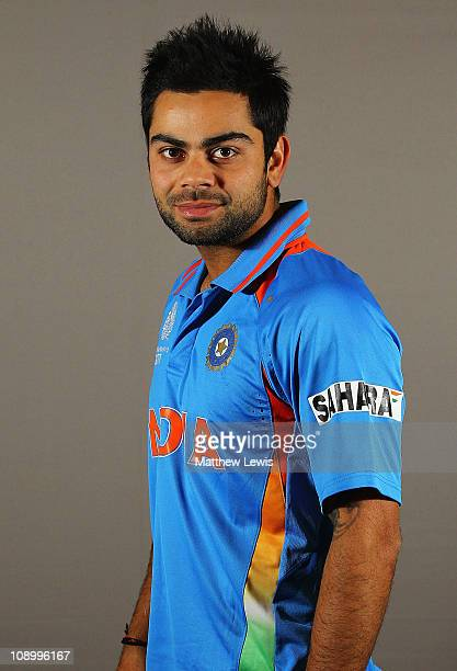 Virat Kohli of India poses during a portrait session ahead of the 2011 ICC World Cup at the ITC Gardenia on February 11 2011 in Bangalore India