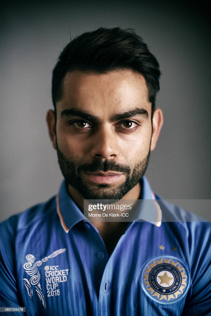 <a gi-track='captionPersonalityLinkClicked' href=/galleries/search?phrase=Virat+Kohli&family=editorial&specificpeople=4880246 ng-click='$event.stopPropagation()'>Virat Kohli</a> of India poses during the India 2015 ICC Cricket World Cup Headshots Session at the Intercontinental on February 7, 2015 in Adelaide, Australia.