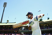 Virat Kohli of India walks out to bat during day three of the Fourth Test match between Australia and India at Sydney Cricket Ground on January 8...