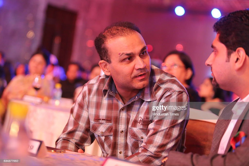 Virender Sehwag, former Indian cricketer during a sixth edition of Hindustan Times Most Stylish Awards 2016 at Hotel JW Marriot, Aerocity on May 24, 2016 in New Delhi, India.