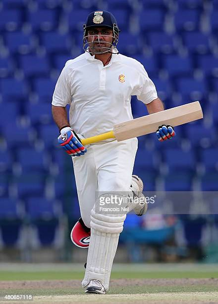 Virender Sehwag of Marylebone Cricket Club bats during day four of the Champion County match between Marylebone Cricket Club and Durham at Sheikh...