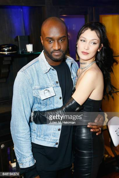 Virgil Abloh and Bella Hadid attend Chrome Hearts X Bella Hadid Collaboration Launch as part of Paris Fashion Week at Chrome Hearts on March 5 2017...