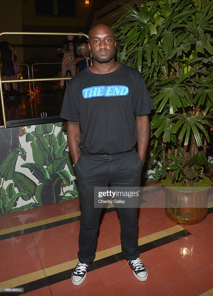 DJ <a gi-track='captionPersonalityLinkClicked' href=/galleries/search?phrase=Virgil&family=editorial&specificpeople=78328 ng-click='$event.stopPropagation()'>Virgil</a> Abloh attends the Jeremy Scott and adidas Originals VMA's After Party with Spirits Sponsored By Svedka Vodka at Union Station on August 30, 2015 in Los Angeles, California.