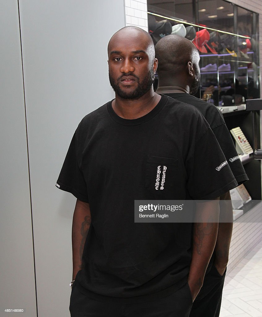 <a gi-track='captionPersonalityLinkClicked' href=/galleries/search?phrase=Virgil&family=editorial&specificpeople=78328 ng-click='$event.stopPropagation()'>Virgil</a> the DJ attends the KITH Brooklyn flagship store opening at KITH on August 24, 2015 in New York City.