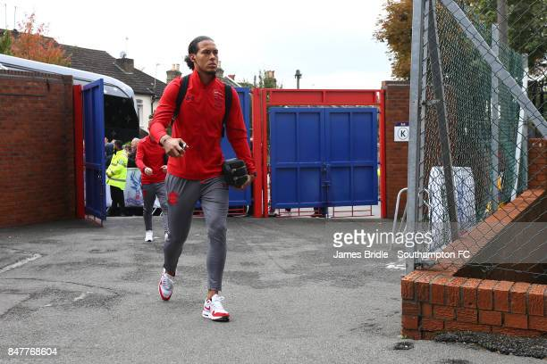 Virgil Van Dijk arrives at Selhurst Park ahead of the Premier League match between Crystal Palace and Southampton at Selhurst Park on September 16...