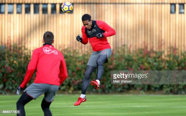 Virgil Van Dijk during a Southampton FC training session at the Staplewood Campus on December 8 2017 in Southampton England
