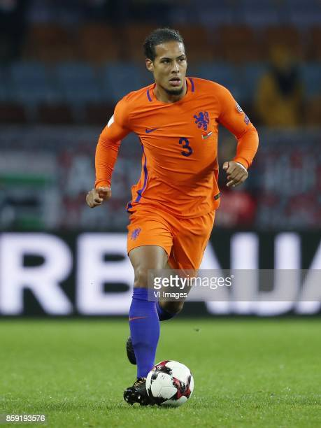 Virgil van Dijk of Holland during the FIFA World Cup 2018 qualifying match between Belarus and Netherlands on October 07 2017 at Borisov Arena in...