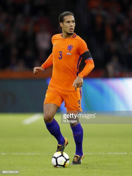 Virgil van Dijk of Holland during the FIFA World Cup 2018 qualifying match between The Netherlands and Sweden at the Amsterdam Arena on October 10...
