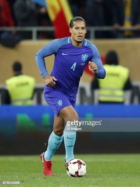 Virgil van Dijk of Holland during the friendly match between Romania and The Netherlands on November 14 2017 at Arena National in Bucharest Romania